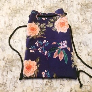 Triangl Neoprene Floral Drawstring Backpack